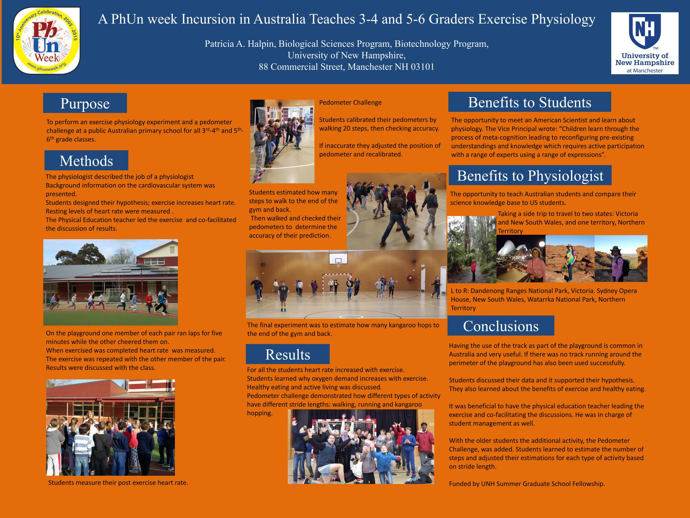 Lifescitrc search results a phun week incursion in australia teaches 3 4 and 5 6 graders exercise physiology phun week poster session eb16 patricia halpin university of new nvjuhfo Images