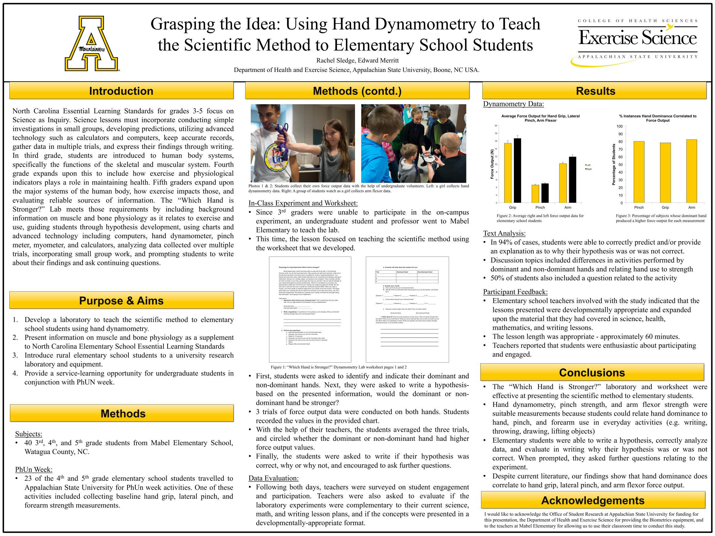worksheet Scientific Method Worksheet Elementary lifescitrc org search results grasping the idea using hand dynamometry to teach scientific method elementary school students rachel sledge appalachian state university