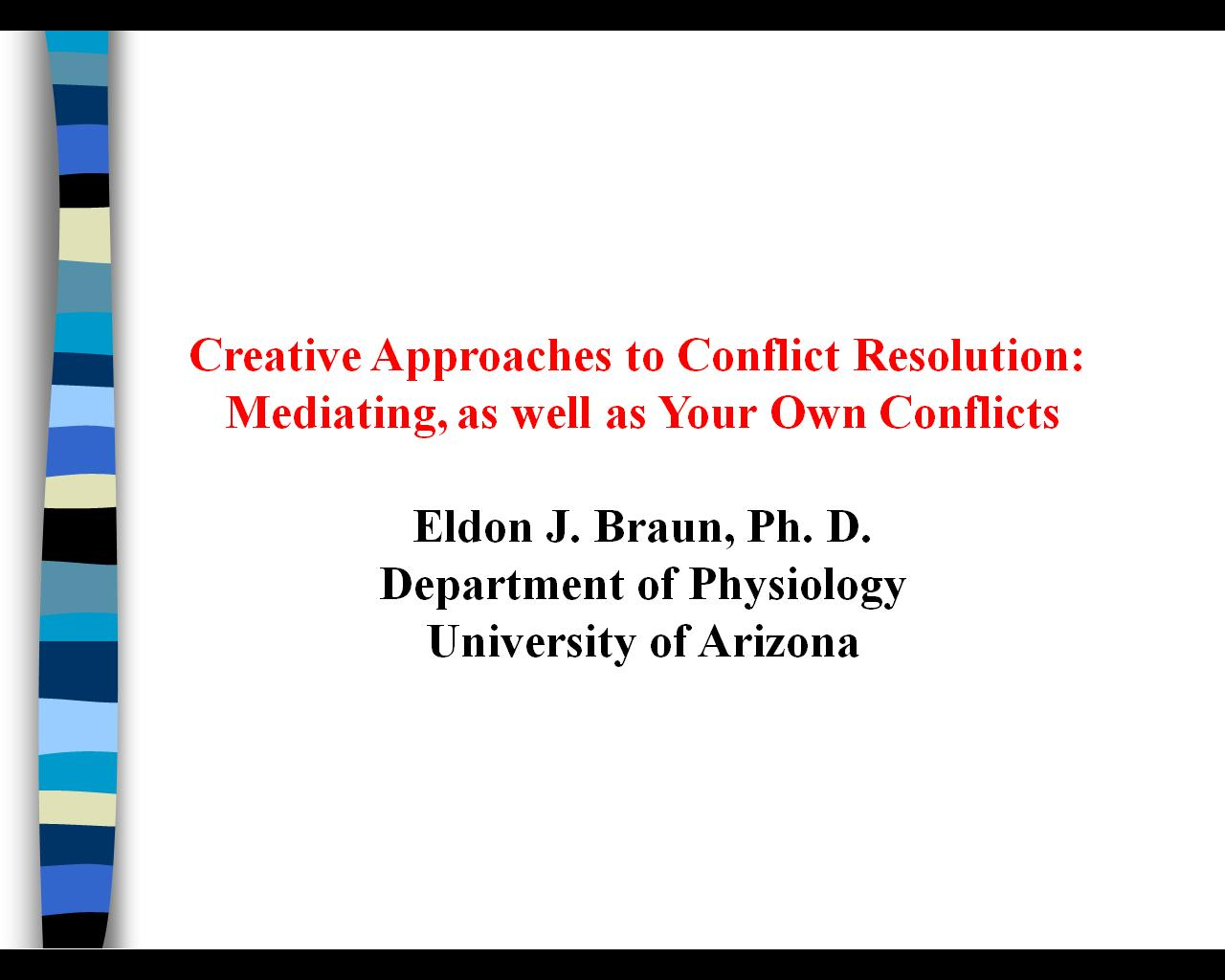 thesis on conflict management in education Some of our most popular dissertation topics and abstracts can  a dissertation looking at reward management and how this  phd thesis assistance education.