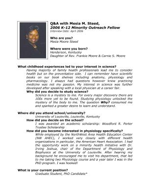 lifescitrc org search results q a mesia steed 2006 aps k 12 minority outreach fellow aps american physiological society biography portable document format pdf